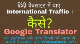 WordPress Webiste/Blog में Google Translator Tool कैसे लगाएं ? How to Add Google Translator in Website?