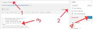 Wordpress ki website me Privacy Policy