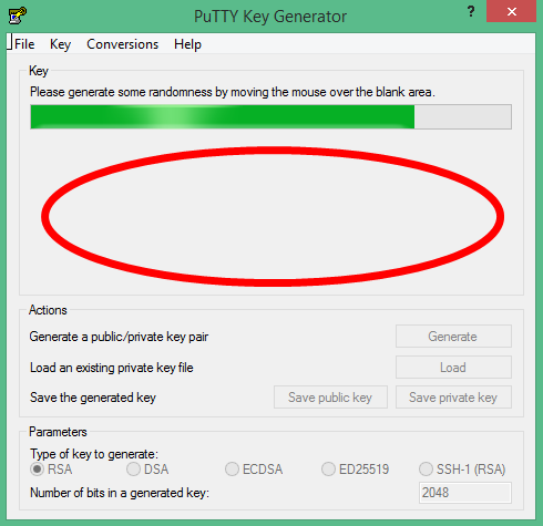 Putty SSH Key generate 2