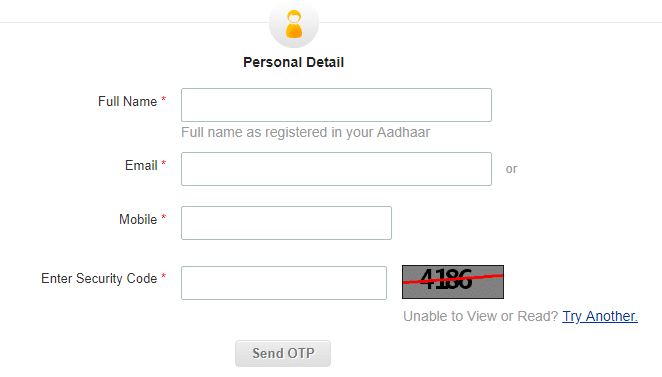 e-aadhar card download password