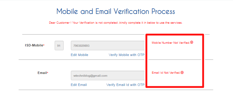 IRCTC Verification