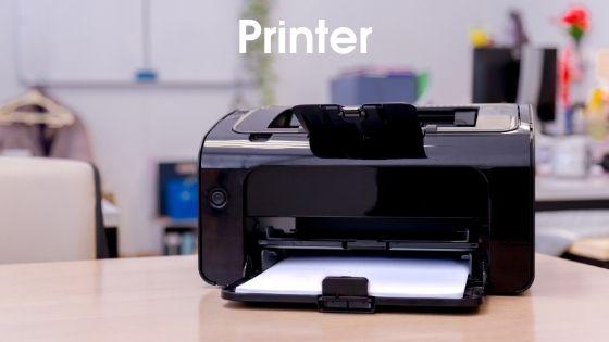 Printer - parts of computer in hindi