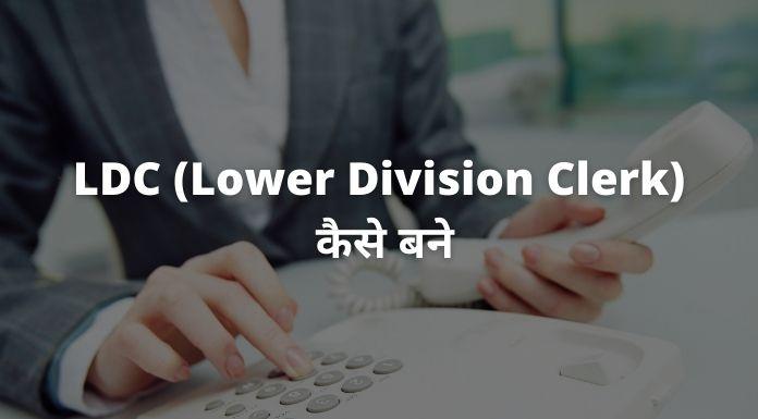 LDC Lower Division Clerk kaise bane